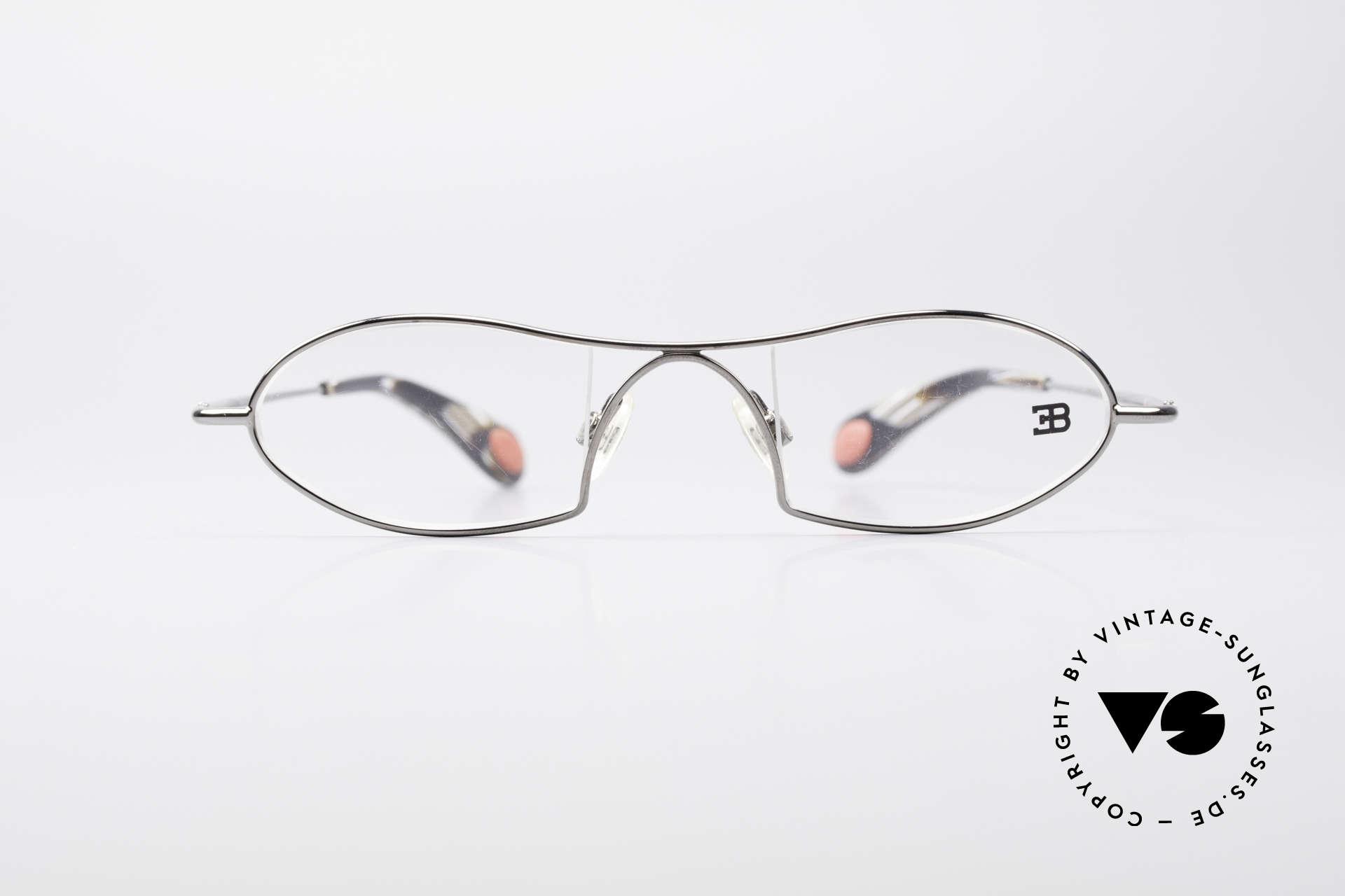 Bugatti 351 Odotype Rare Men's Designer Frame, original BUGATTI high-tech eyeglass-frame, Made for Men