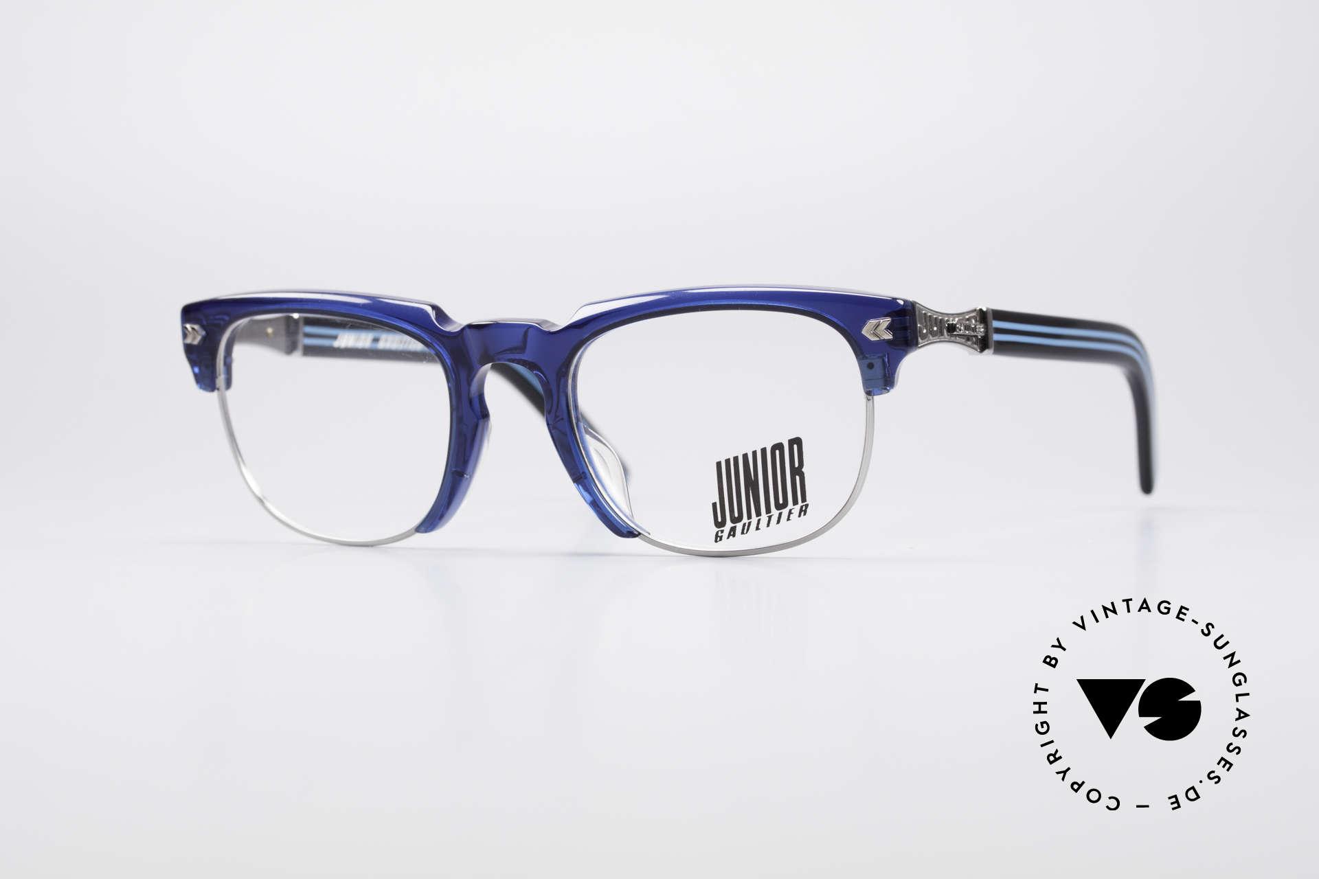 Jean Paul Gaultier 57-1271 90's Junior Collection, spectacular Jean Paul GAULTIER 90's designer glasses, Made for Men