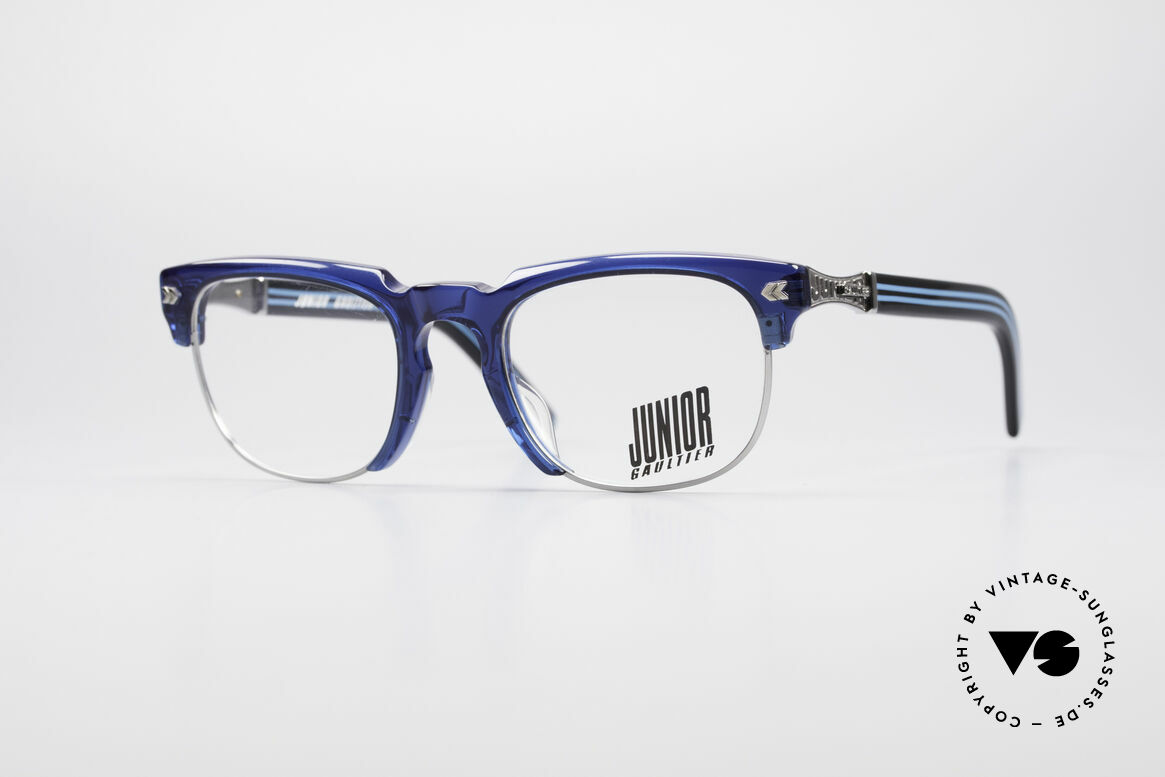 Jean Paul Gaultier 57-1271 90's Junior Collection, spectacular Jean Paul GAULTIER 90's designer glasses, Made for Men