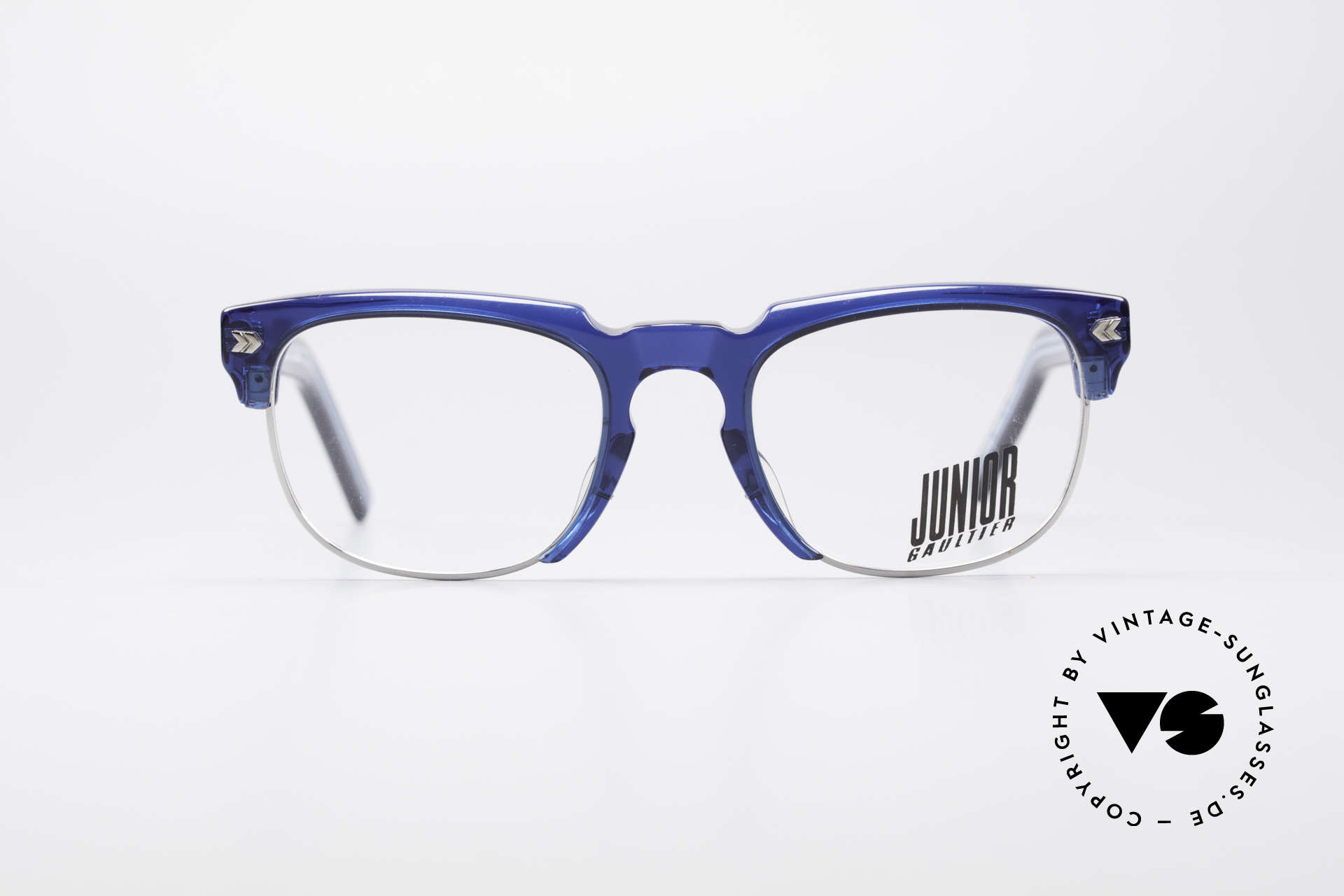 Jean Paul Gaultier 57-1271 90's Junior Collection, massive frame with conspicuous details (eye-catcher), Made for Men