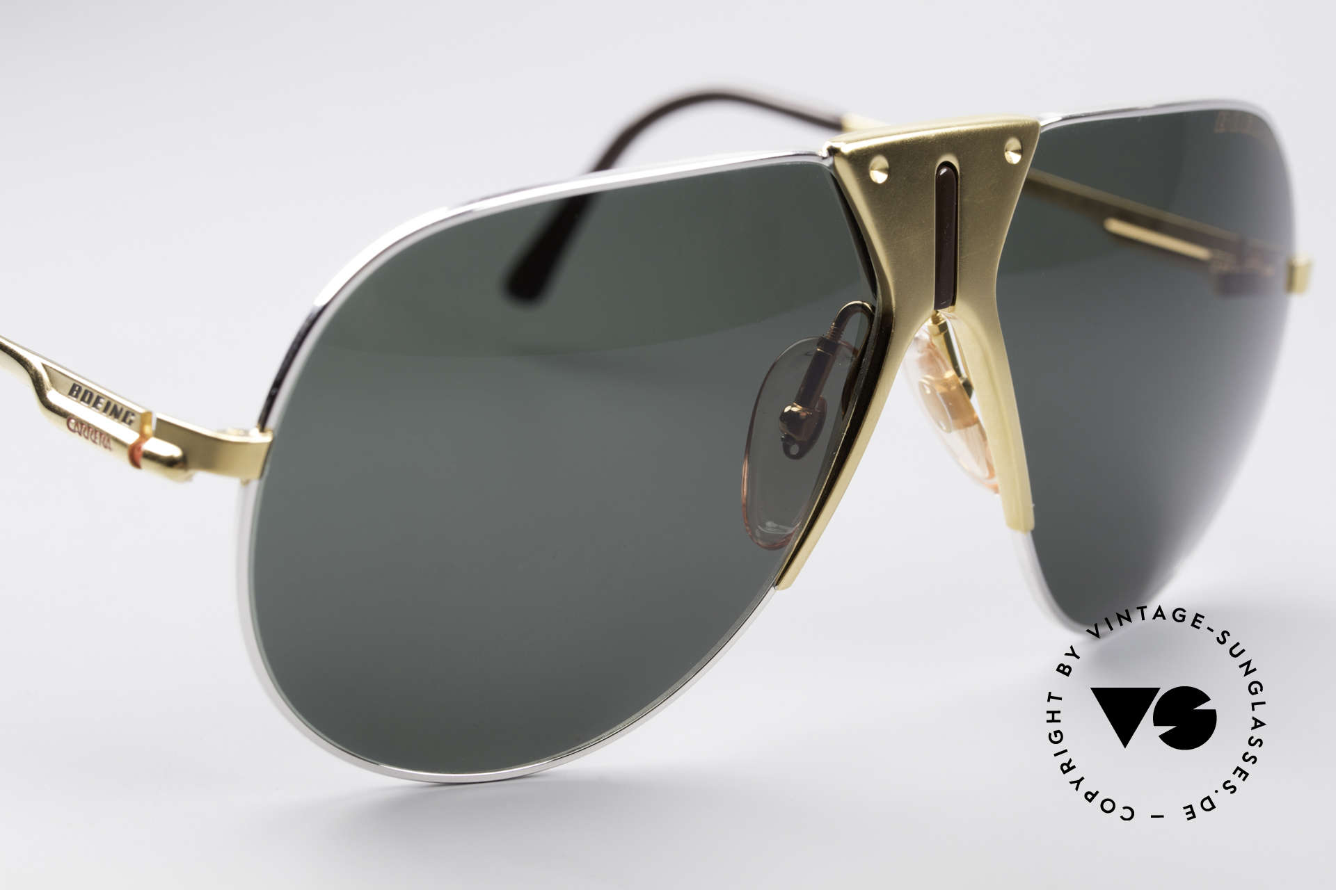 """Boeing 5701 Famous 80's Pilots Shades, """"SMALL"""" 80's size (62/12) = a MEDIUM size, today, Made for Men and Women"""