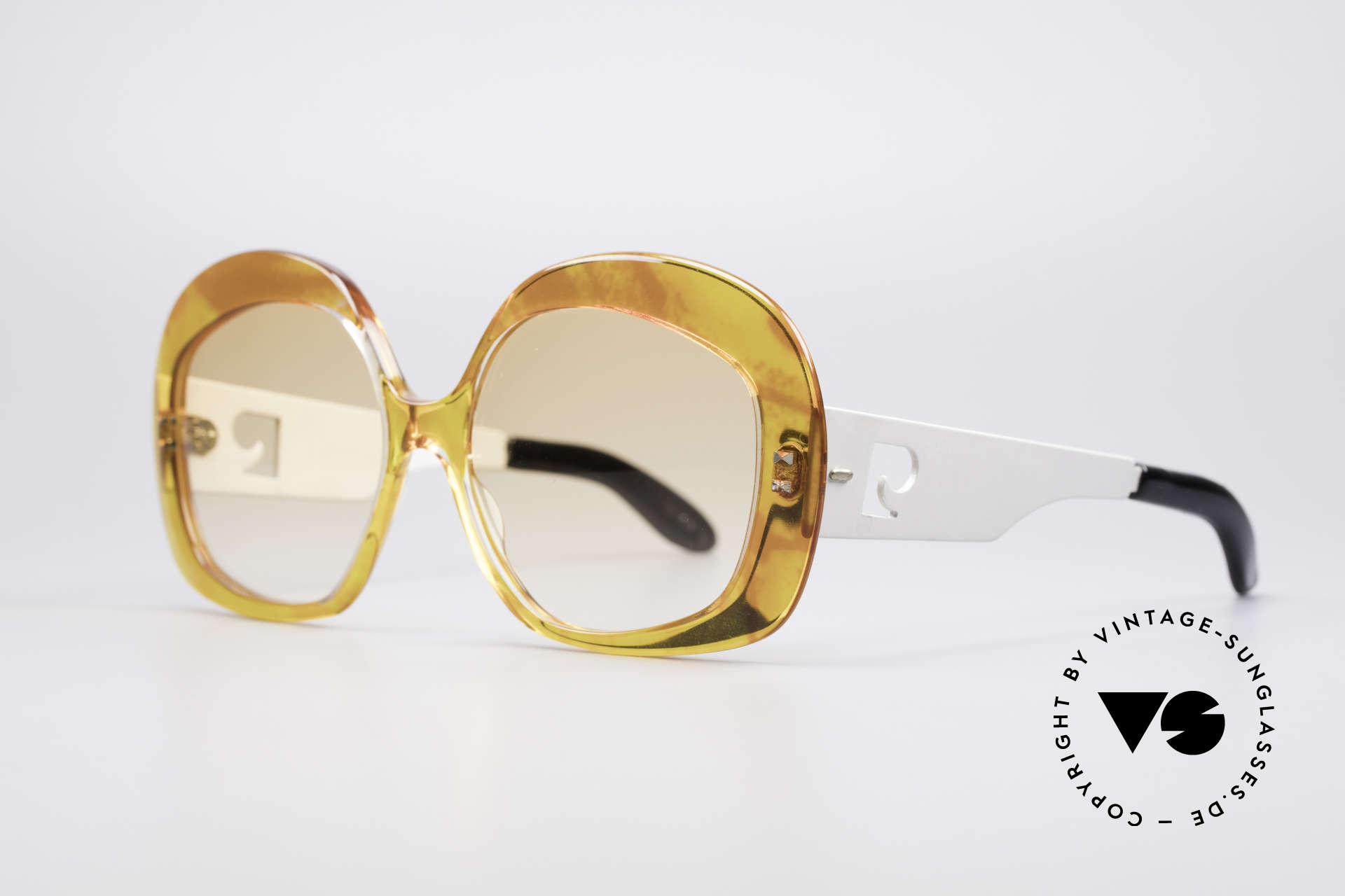 Pierre Cardin 734 XXL 70's Sunglasses, oversized XL frame - striking styling; eye-catcher!, Made for Women