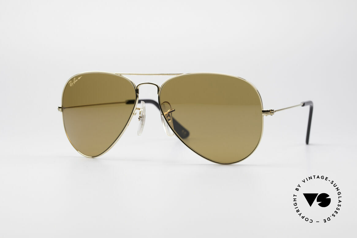 Ray Ban Large Metal Driving Chromax, 1980's Ray Ban vintage sunglasses in size 58/14, Made for Men and Women