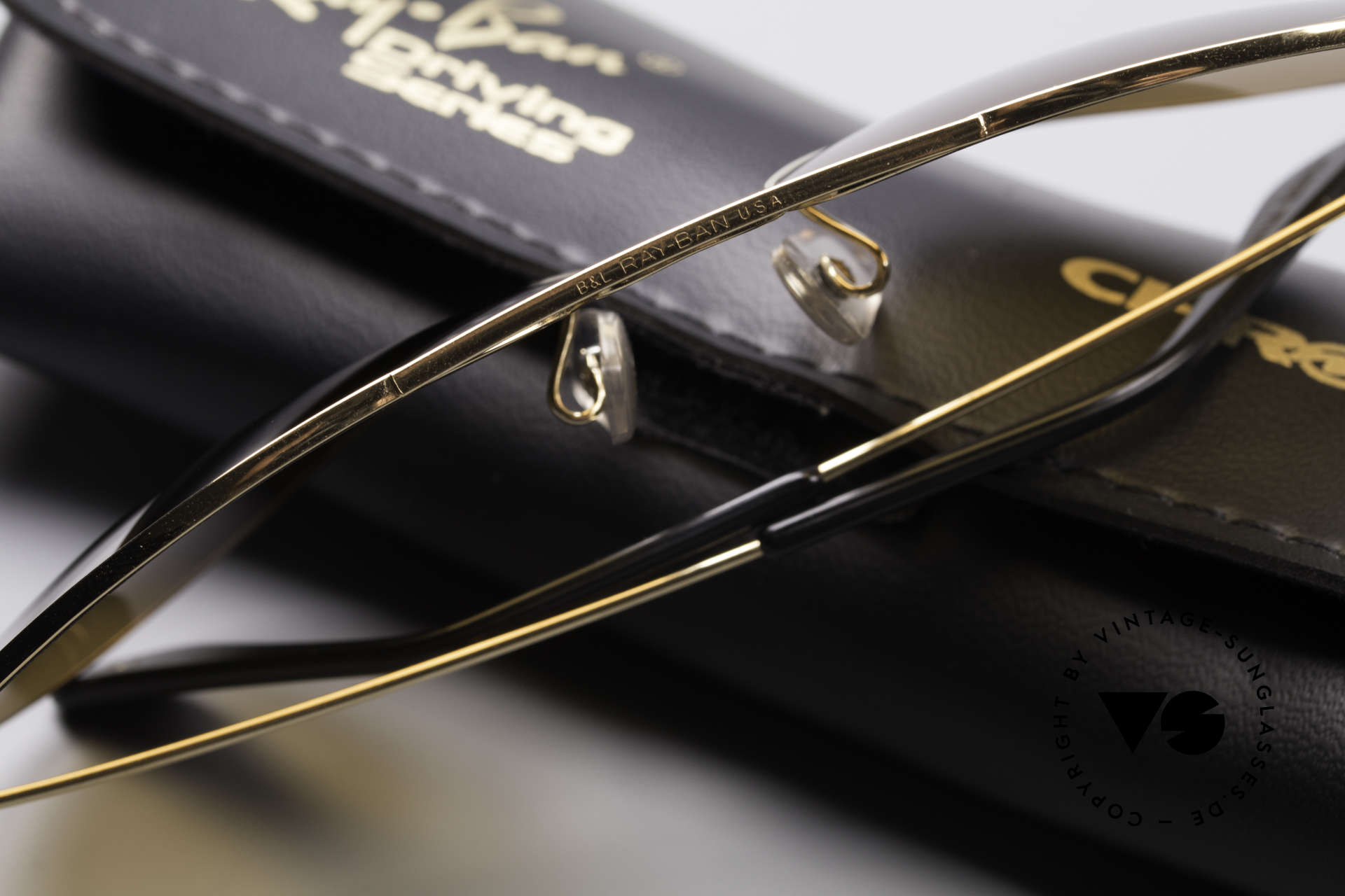 Ray Ban Large Metal Driving Chromax, NO RETRO sunglasses, but an old USA-ORIGINAL, Made for Men and Women