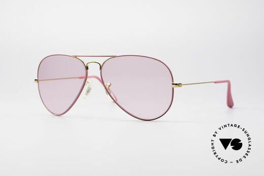 Ray Ban Large Metal Pink Ladies Sunglasses Details