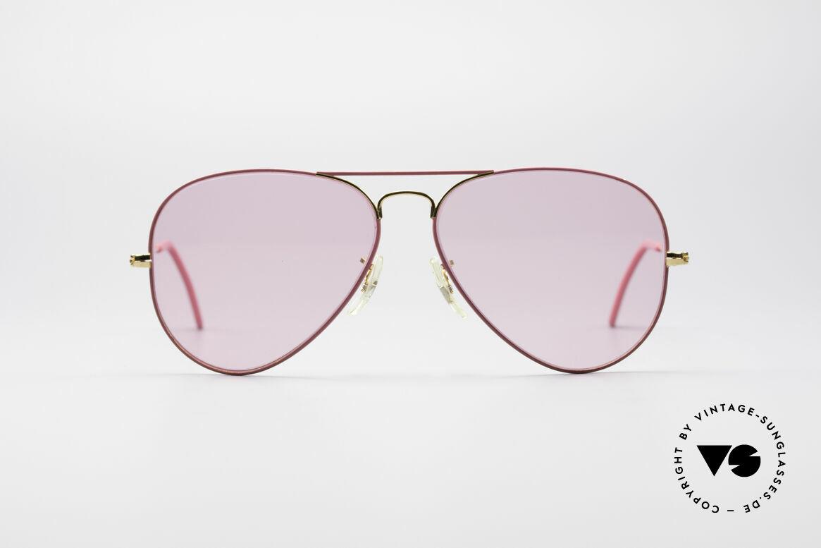 Ray Ban Large Metal Pink Ladies Sunglasses