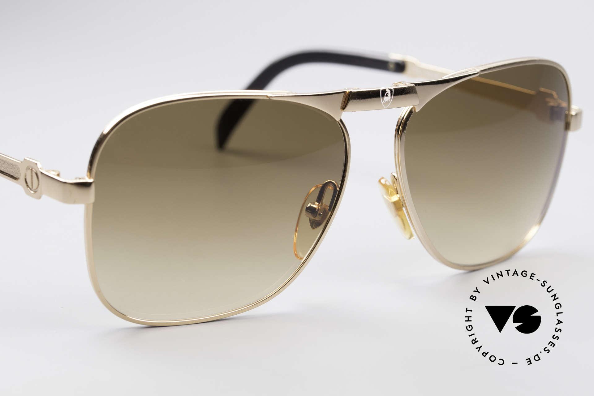 Lamborghini LT50/P 80's Folding Sunglasses, the world most famous 'raging bull' logo, on bridge & pads, Made for Men