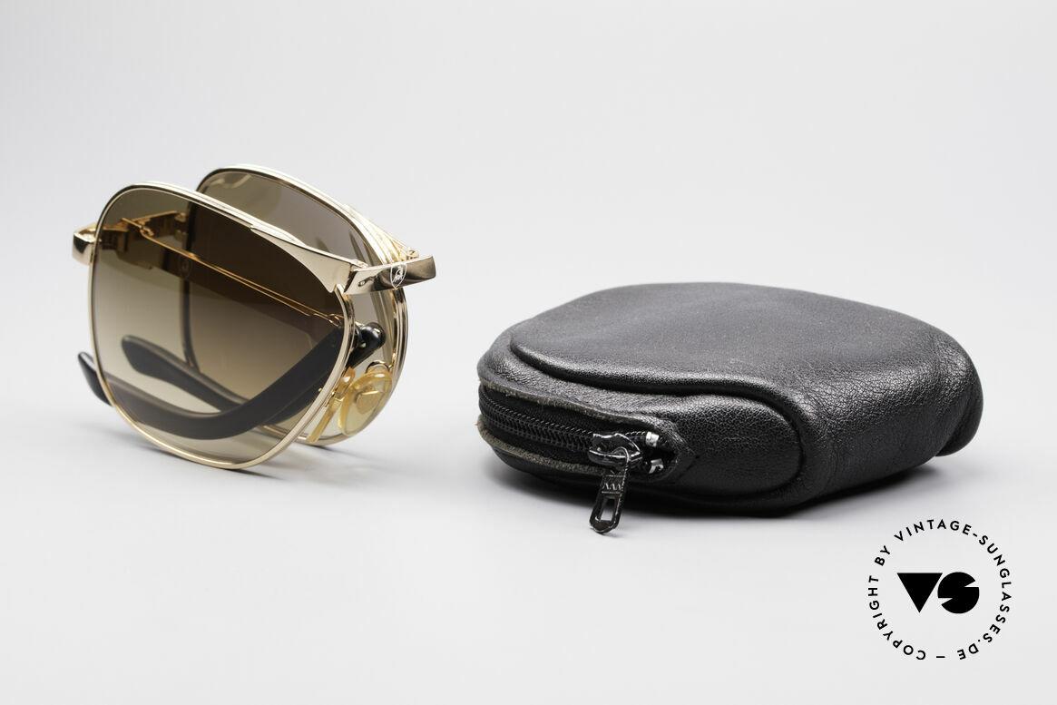 Lamborghini LT50/P 80's Folding Sunglasses, Size: large, Made for Men