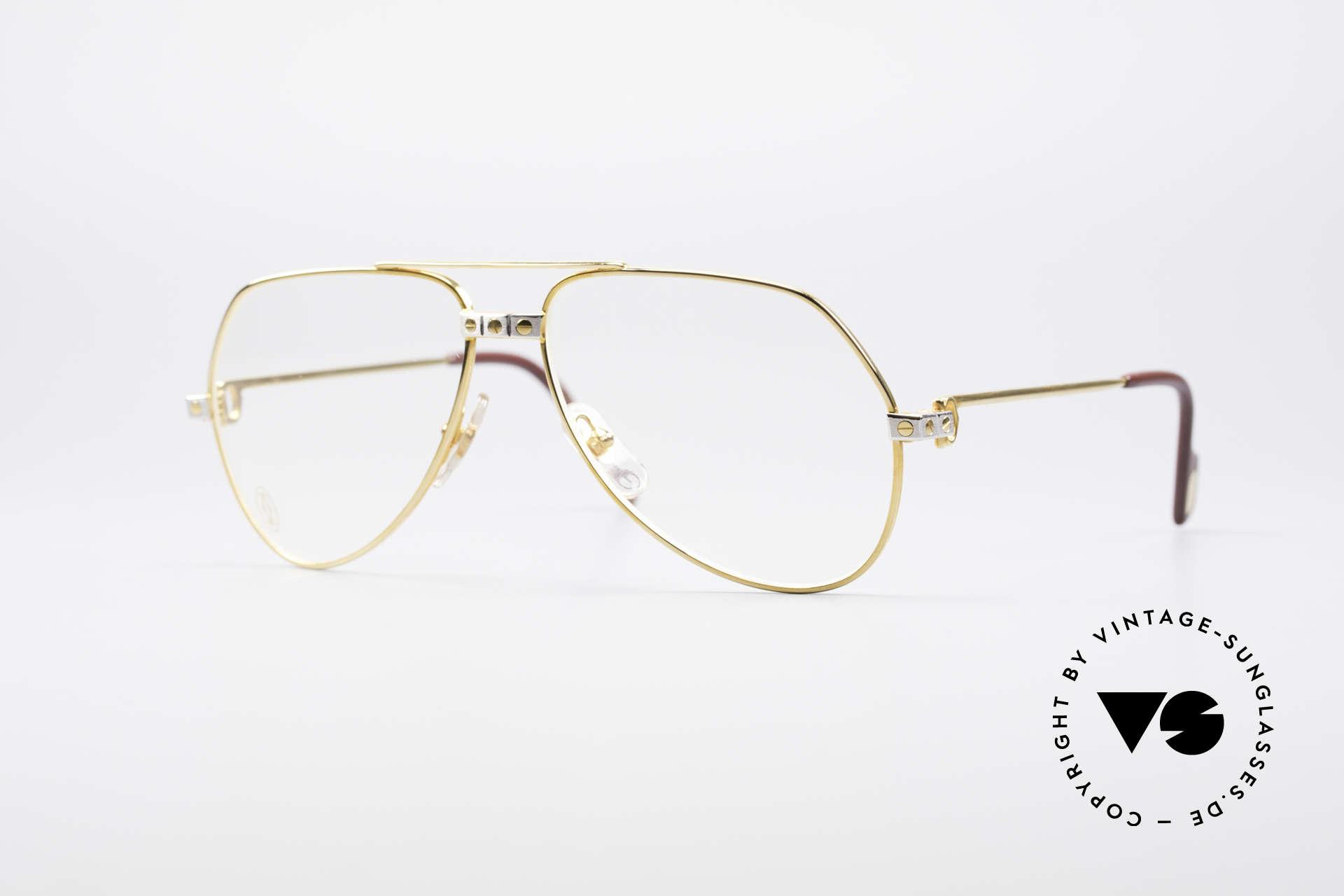 Cartier Vendome Santos - S James Bond Eyeglasses 1980's, Vendome = the most famous eyewear design by CARTIER, Made for Men and Women