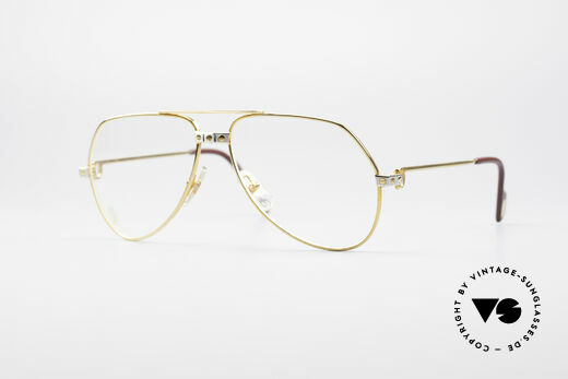 Cartier Vendome Santos - S James Bond Eyeglasses 1980's Details