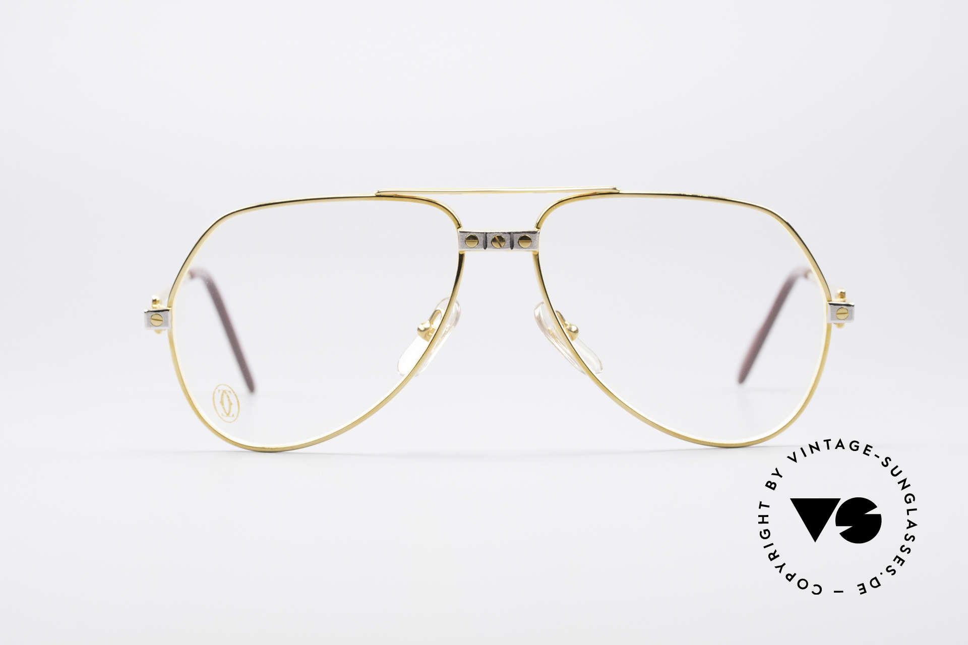 """Cartier Vendome Santos - S James Bond Eyeglasses 1980's, mod. """"Vendome"""" was launched in 1983 & made till 1997, Made for Men and Women"""