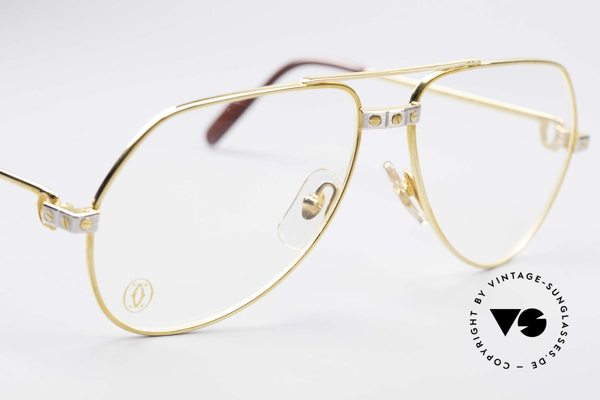 Cartier Vendome Santos - S James Bond Eyeglasses 1980's, worn by actor Christopher Walken (JAMES BOND, 1985), Made for Men and Women
