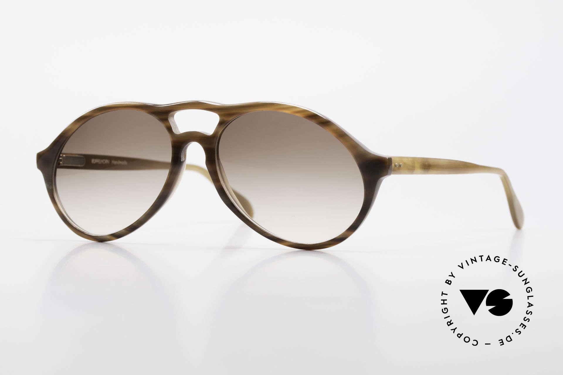 Bugatti 64852 Genuine Buffalo Horn Glasses, rare designer piece (made of GENUINE buffalo HORN), Made for Men