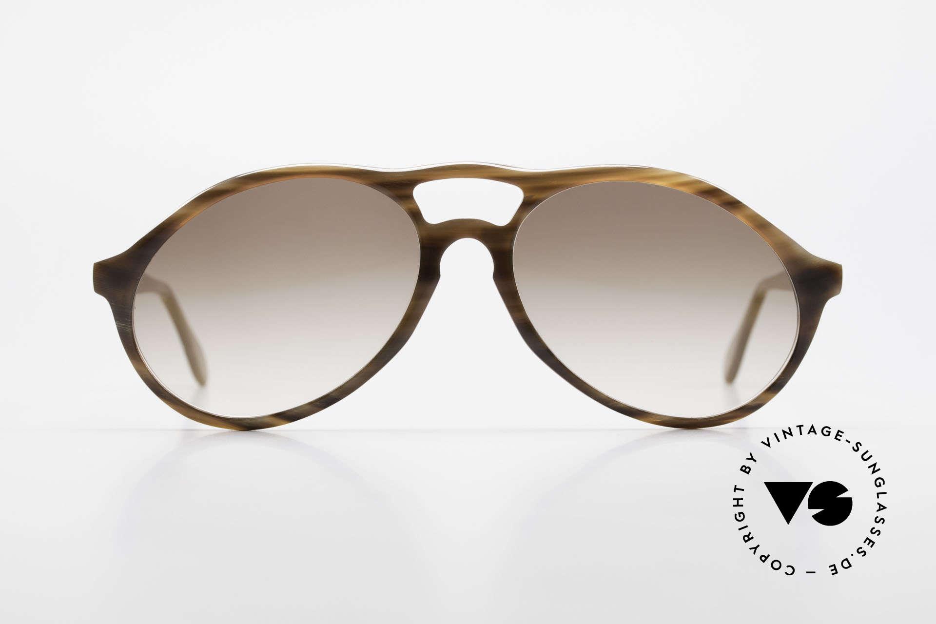 Bugatti 64852 Genuine Buffalo Horn Glasses, precious 80's Bugatti vintage sunglasses; size 54-16, Made for Men