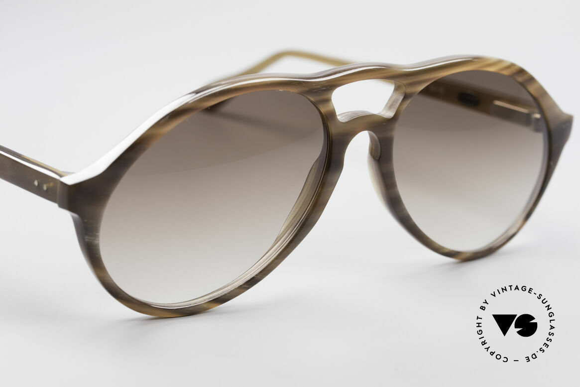 Bugatti 64852 Genuine Buffalo Horn Glasses, every model (made of horn) looks individual / unique, Made for Men