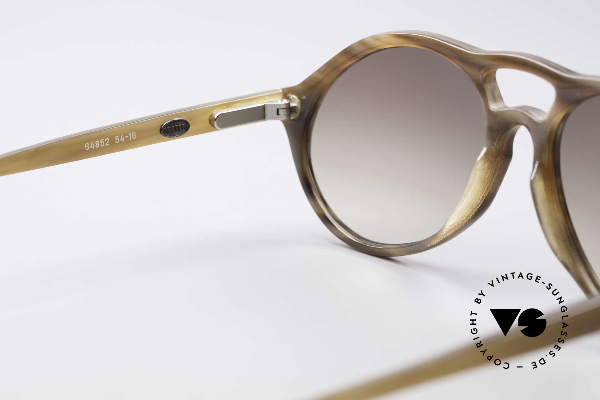 Bugatti 64852 Genuine Buffalo Horn Glasses, unworn (like all our BUGATTI gentlemen's sunglasses), Made for Men