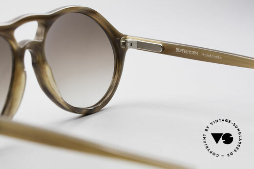 Bugatti 64852 Genuine Buffalo Horn Glasses, NO retro, but a collector's item from the early 1980's!, Made for Men