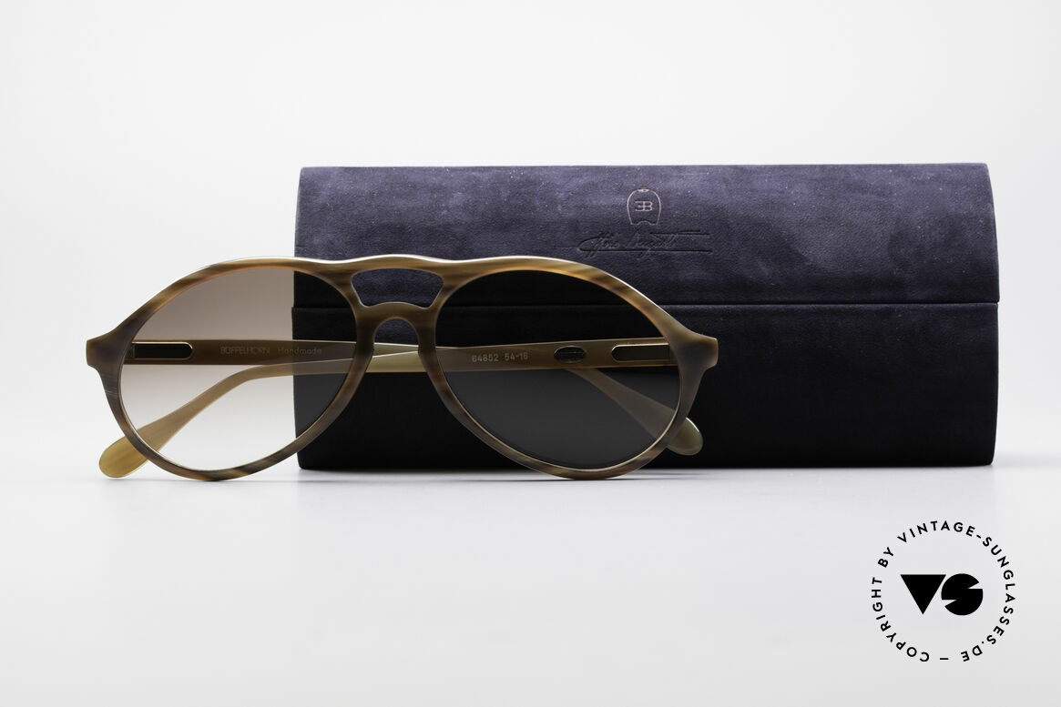 Bugatti 64852 Genuine Buffalo Horn Glasses, one of a kind: almost impossible to find, in these days, Made for Men