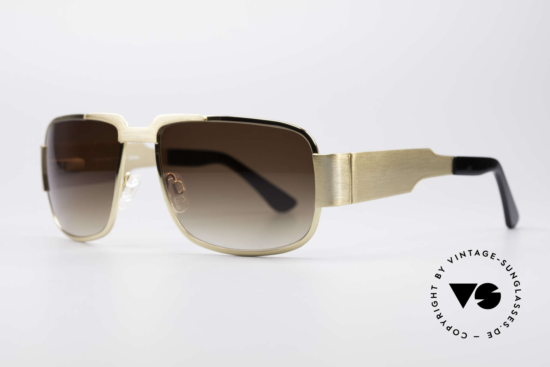 Neostyle Nautic 2 Elvis Presley Sunglasses, massive frame with flexible spring hinges & brown lenses, Made for Men