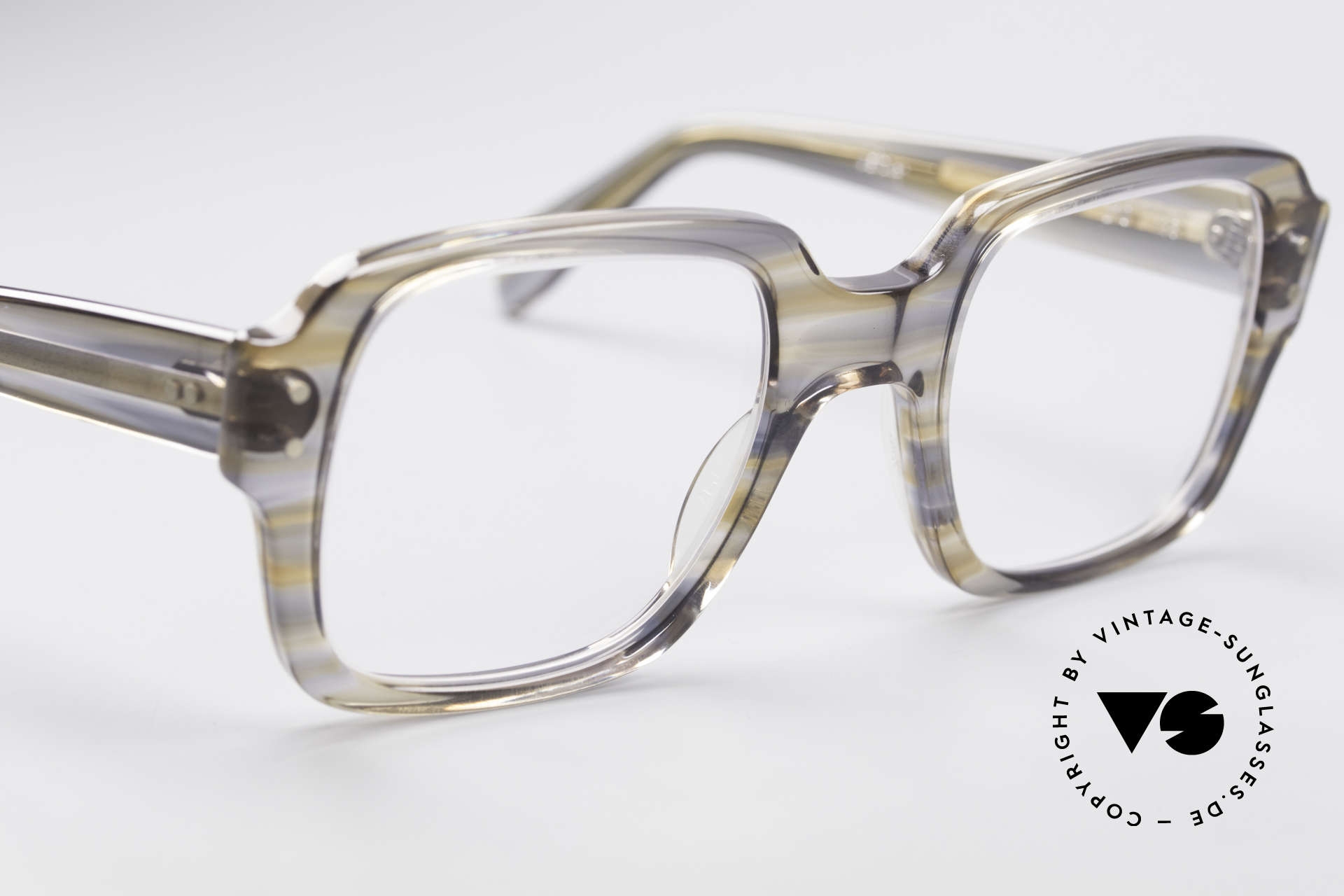Metzler 448 70's Original Nerd Glasses, gray-brownish coloring (characteristical for the 1970's), Made for Men