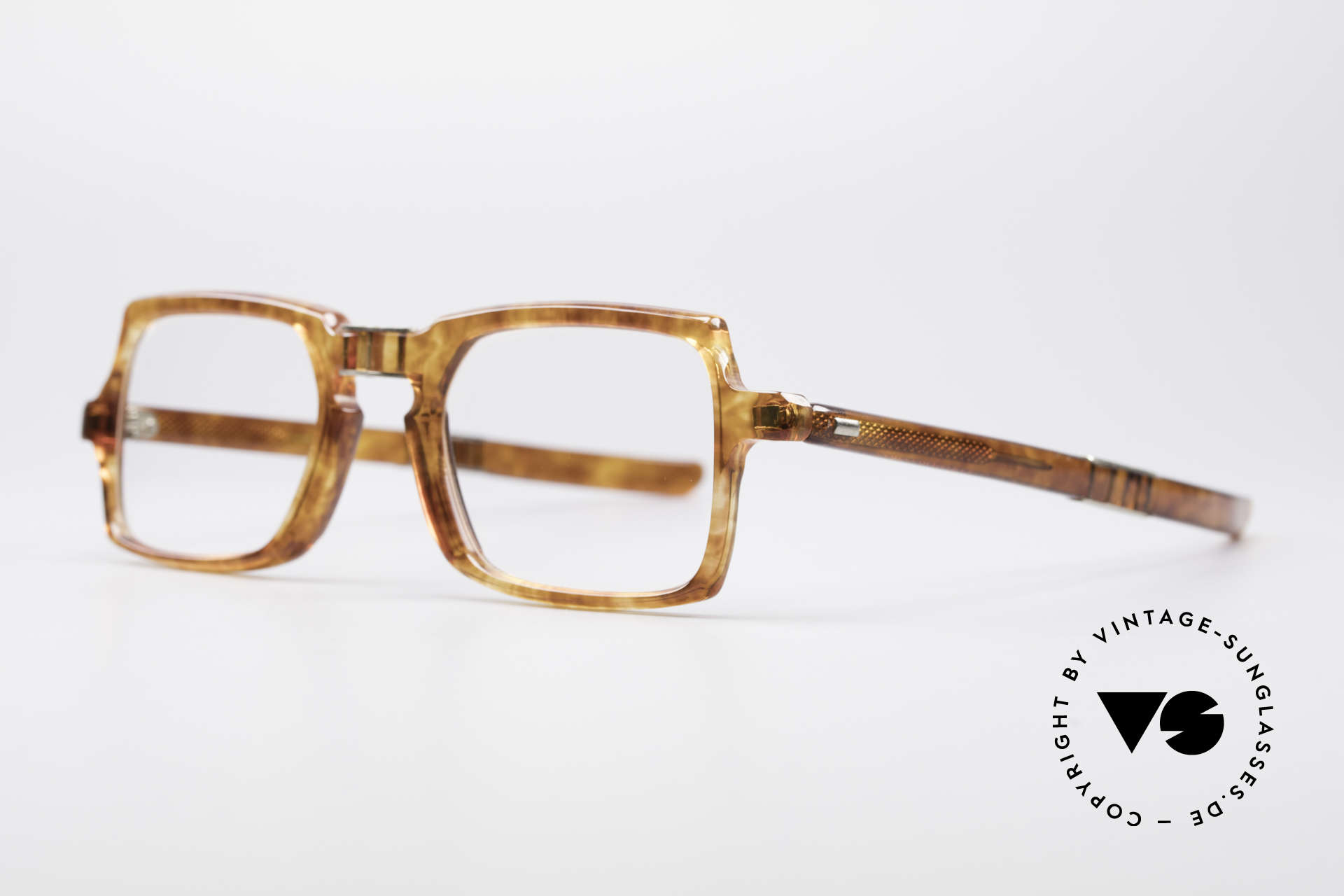 Meyro 618 70's Folding Glasses, the material looks like real Amber; really unique!, Made for Men