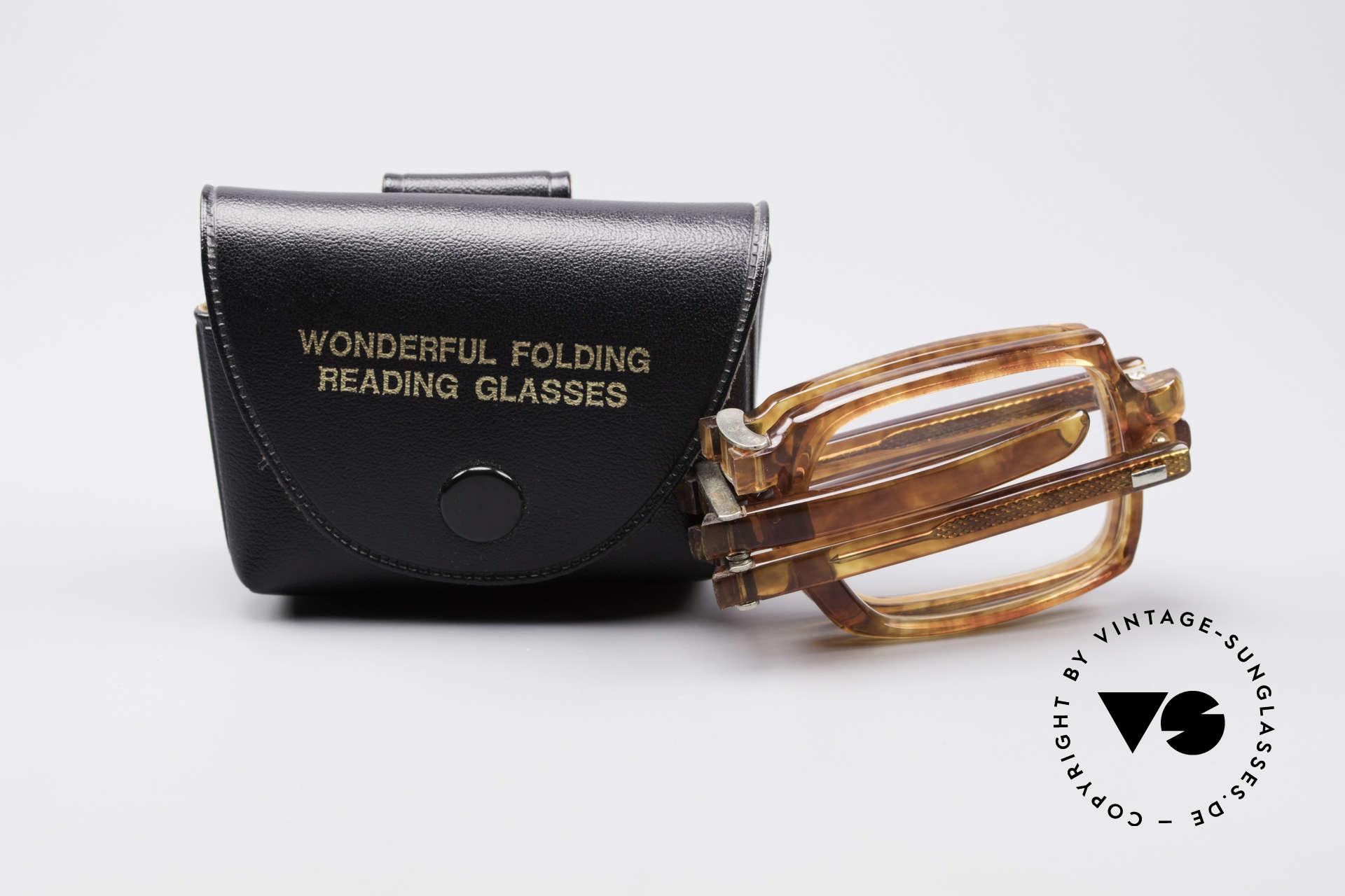 Meyro 618 70's Folding Glasses, NO RETRO EYEWEAR, but a precious old Original, Made for Men