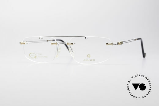 Aigner EA499 Gold Plated Rimless Frame Details