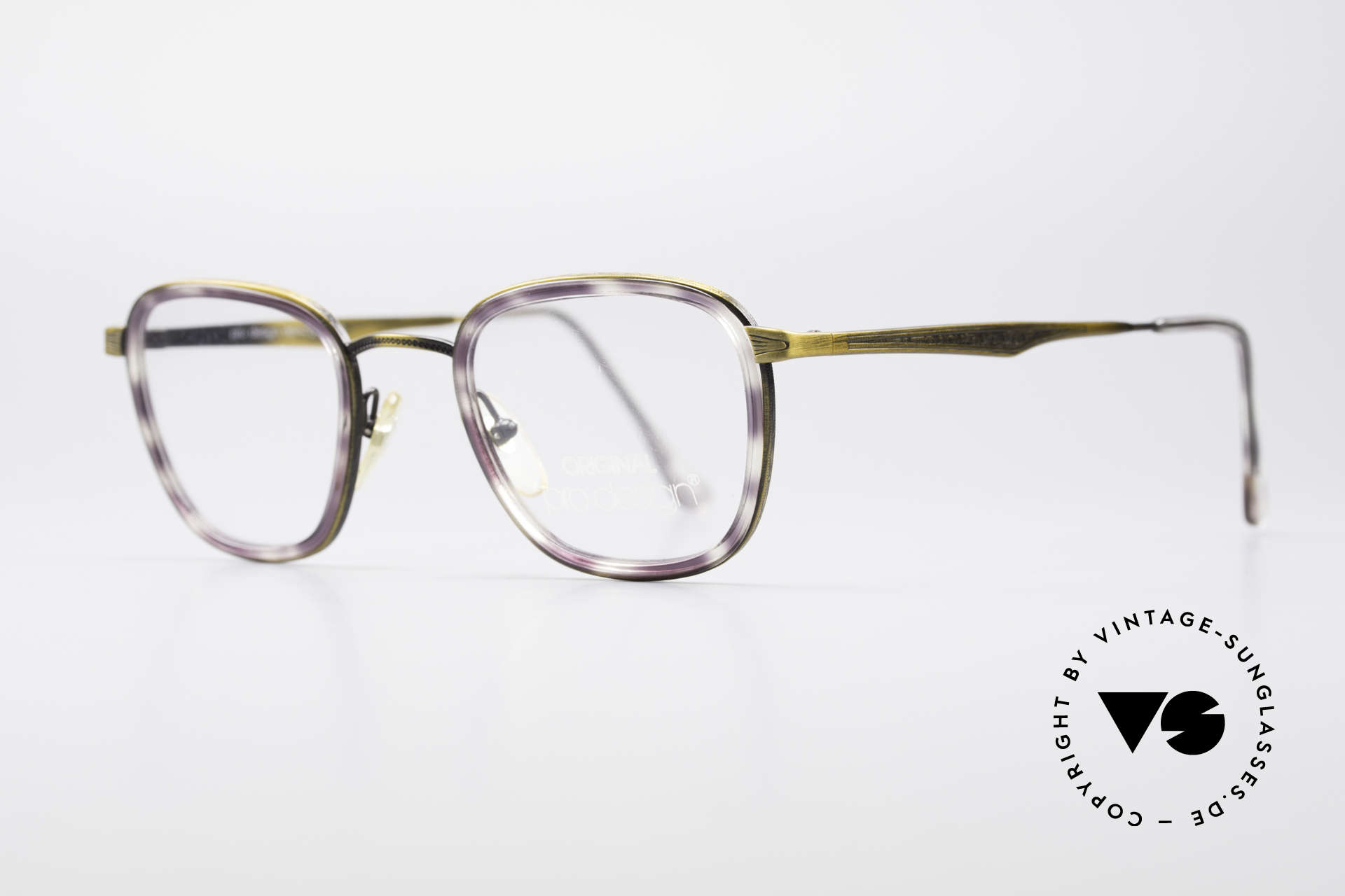 ProDesign Denmark Club 88A Vintage Glasses, bridge and metal temples with costly engravings, Made for Men