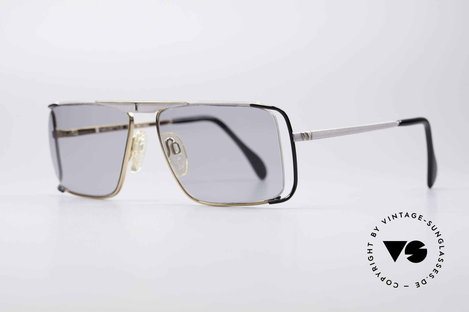 Neostyle Boutique 640 Square Vintage Frame, half rimless (nylor thread) for 1. class wearing comfort, Made for Men and Women