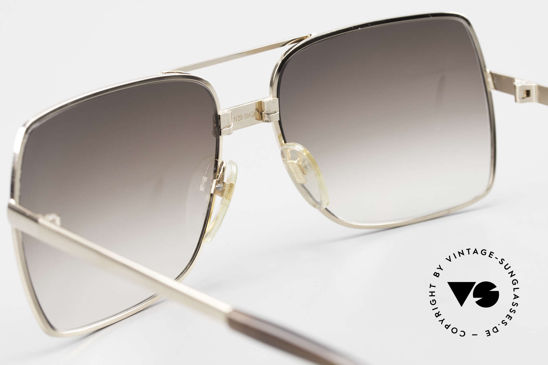 Neostyle Office 10 Gold Filled 70's Sunglasses, this app. 45 years old treasure can be glazed optionally, Made for Men