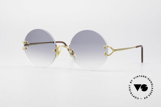Cartier Madison Round Rimless Sunglasses Details