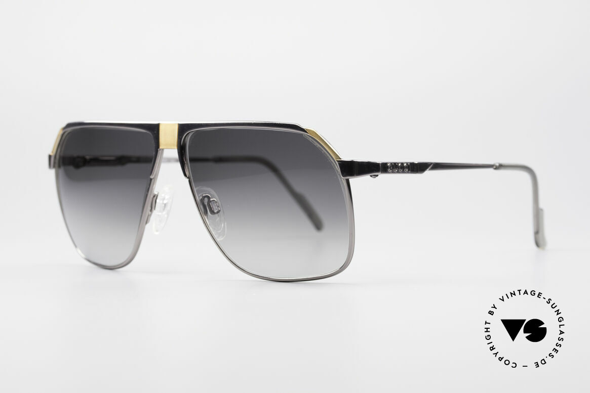Gucci 1200 80's Luxury Sunglasses, aviator eyewear design with spring hinged arms, Made for Men