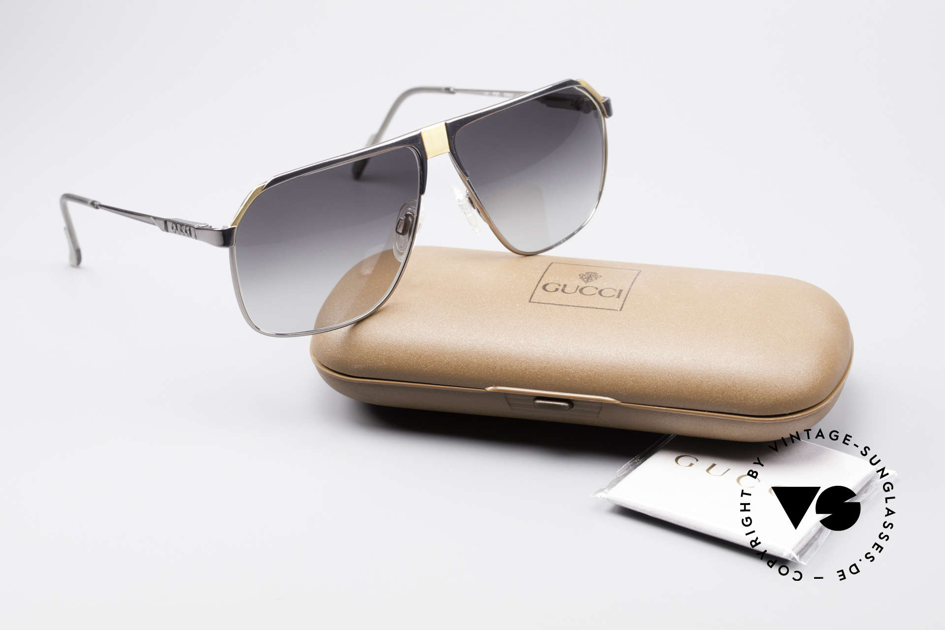 """Gucci 1200 80's Luxury Sunglasses, a vintage designer """"must-have"""" of top-quality !!!, Made for Men"""