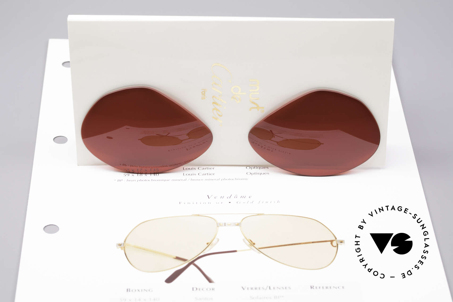Cartier Vendome Lenses - L Sun Lenses 3D Red, gaudy 3D red tint / color = NOT qualified FOR DRIVING!!, Made for Men