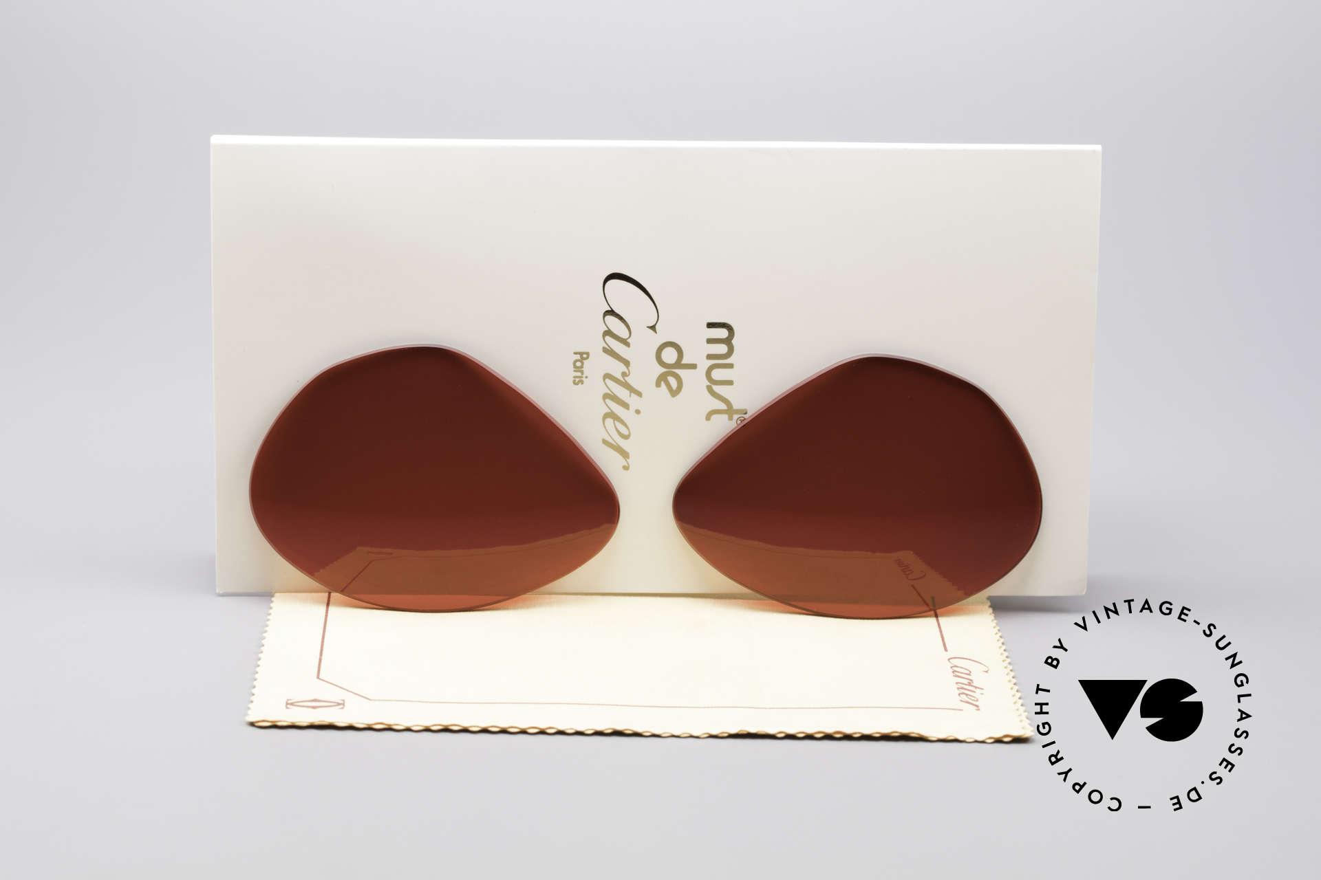 Cartier Vendome Lenses - L Sun Lenses 3D Red, new CR39 UV400 plastic lenses (for 100% UV protection), Made for Men