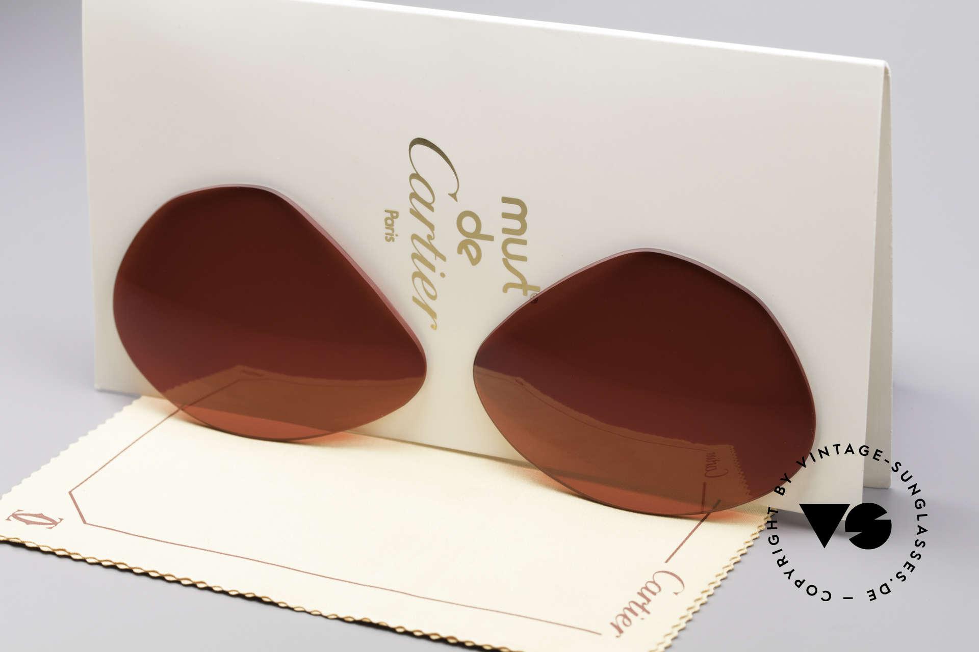 Cartier Vendome Lenses - L Sun Lenses 3D Red, replacement lenses for Cartier mod. Vendome 62mm size, Made for Men