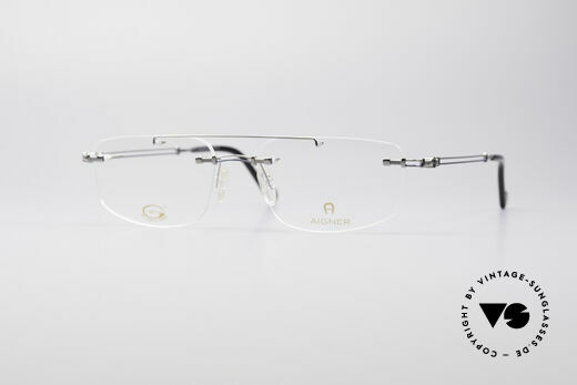 Aigner EA499 Rimless Vintage Glasses Details