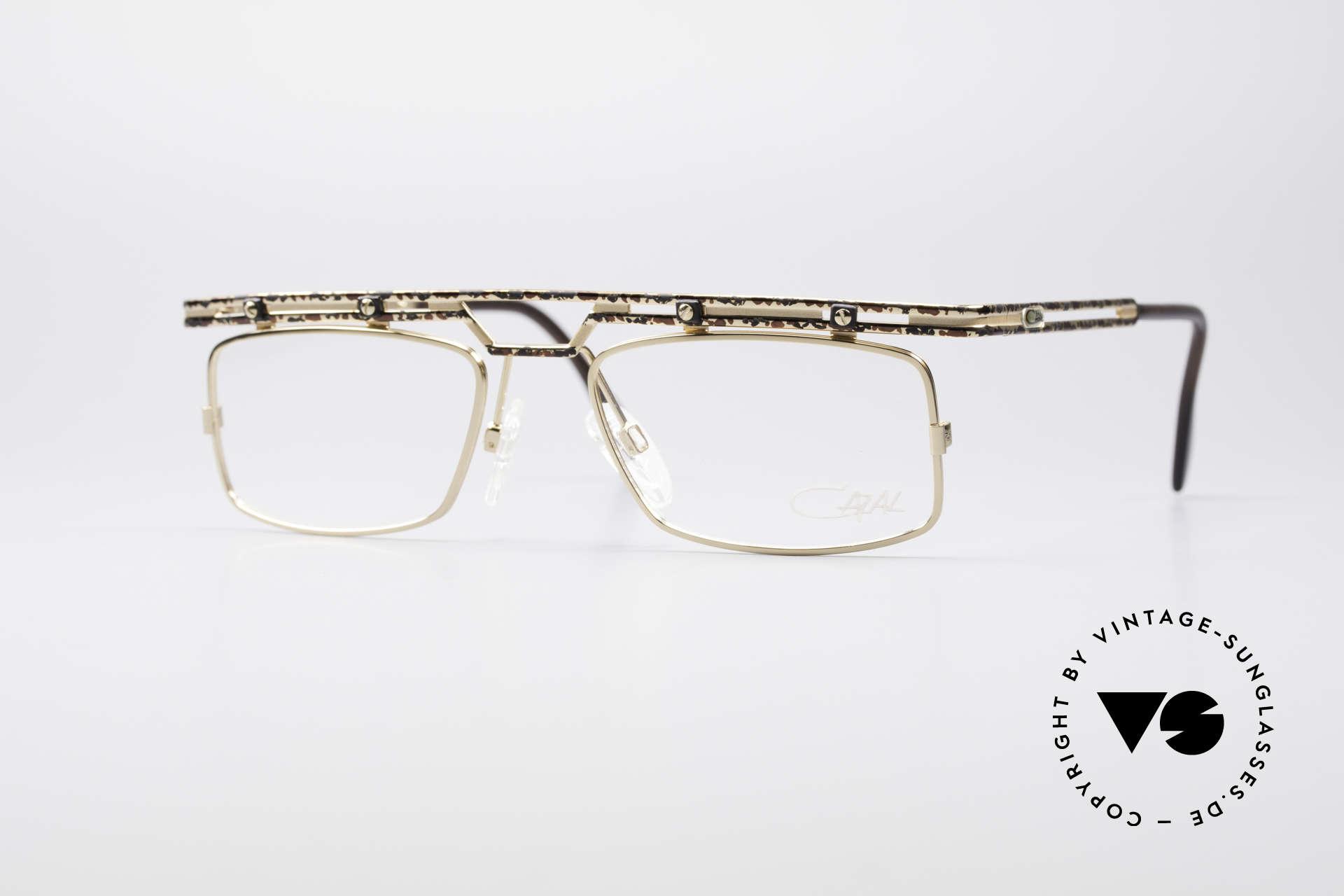 Cazal 975 True Vintage No Retro Glasses, striking / square Cazal vintage glasses from 1996/97, Made for Men