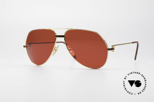 Cartier Vendome Laque - L Luxury 80's Aviator Shades Details