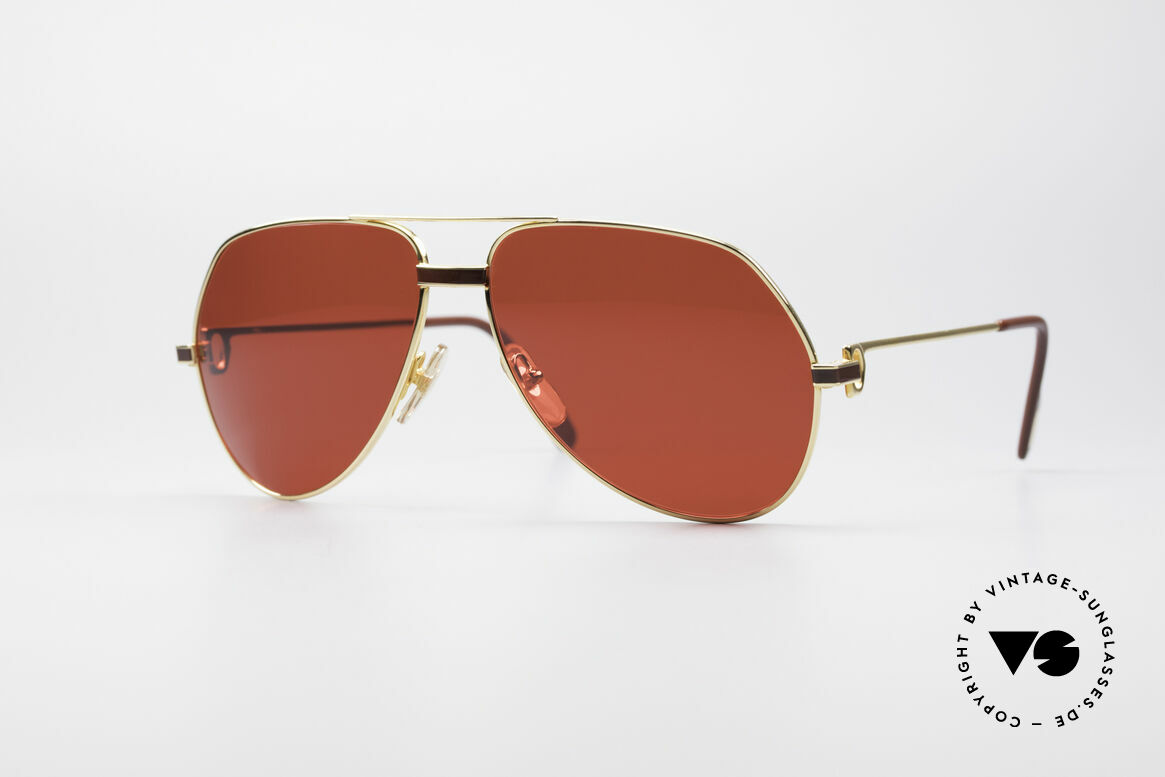 Cartier Vendome Laque - L Luxury 80's Aviator Shades, Vendome = the most famous eyewear design by CARTIER, Made for Men