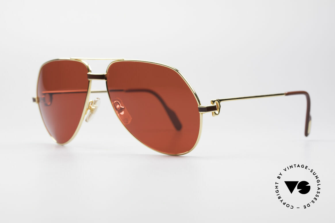 Cartier Vendome Laque - L Luxury 80's Aviator Shades, this pair (with LAQUE decor) in LARGE size 62-14, 140, Made for Men