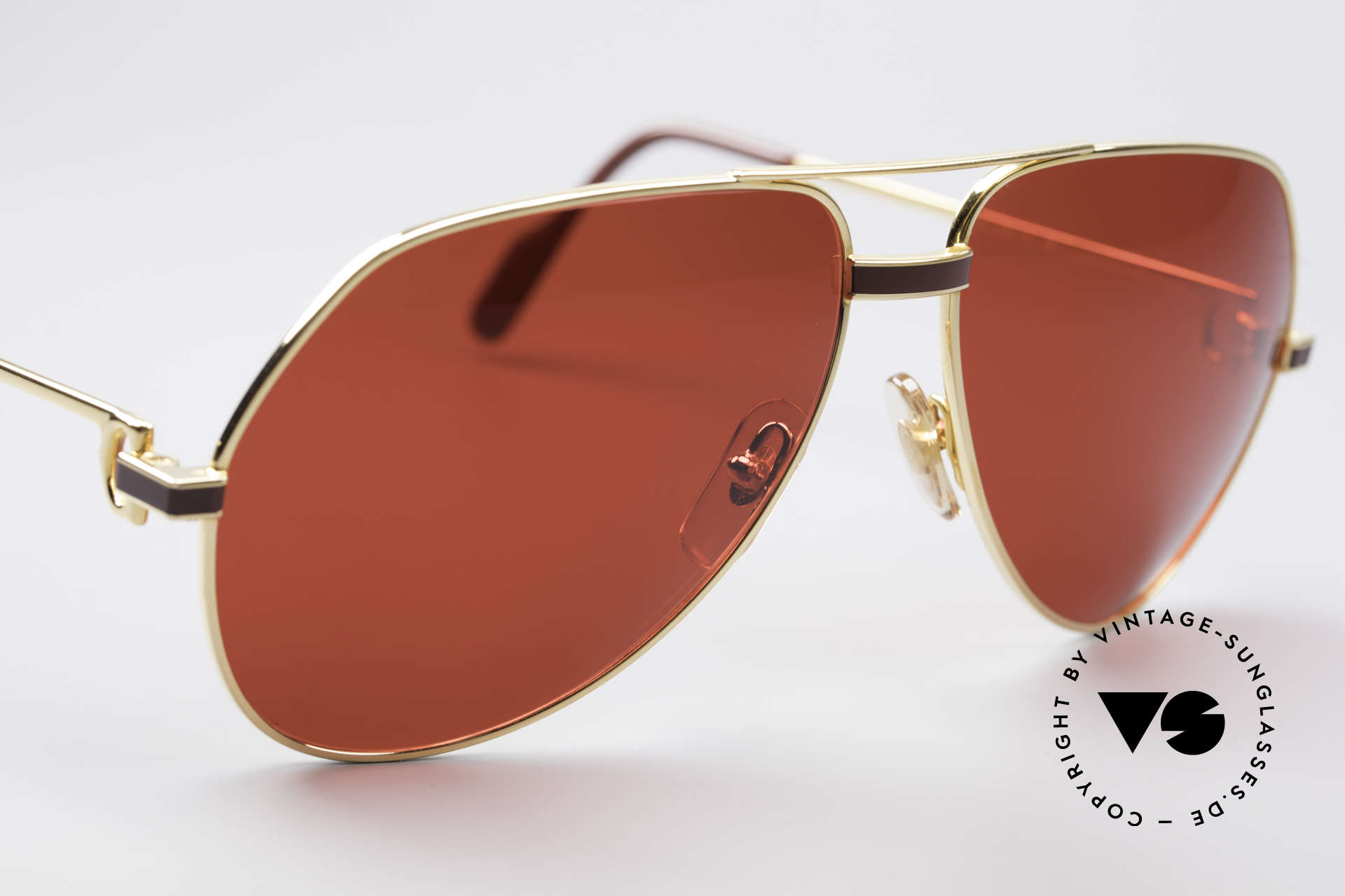 Cartier Vendome Laque - L Luxury 80's Aviator Shades, luxury frame (22ct gold-plated) with full orig. packing!, Made for Men