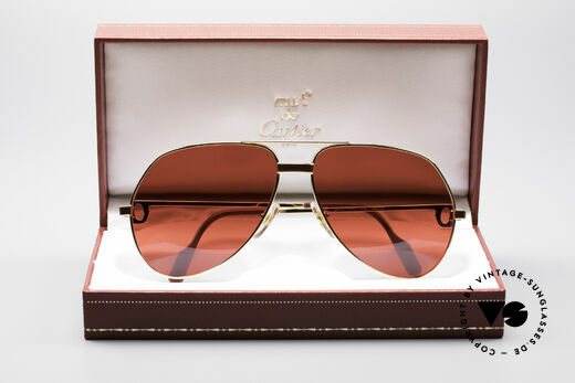 Cartier Vendome Laque - L Luxury 80's Aviator Shades, unworn rarity: hard to find in this condition, these days, Made for Men