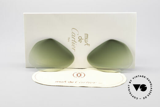 Cartier Vendome Lenses - L Green Gradient Sun Lenses Details