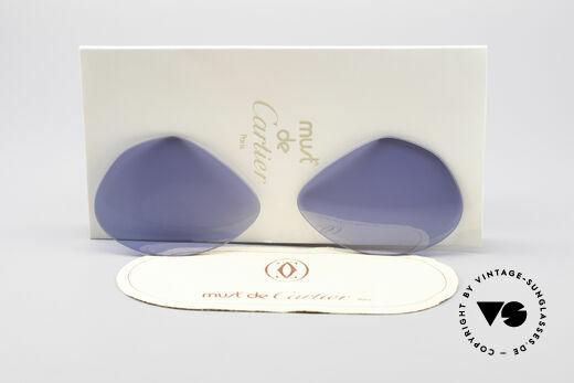 Cartier Vendome Lenses - L Navy Blue Sun Lenses Details