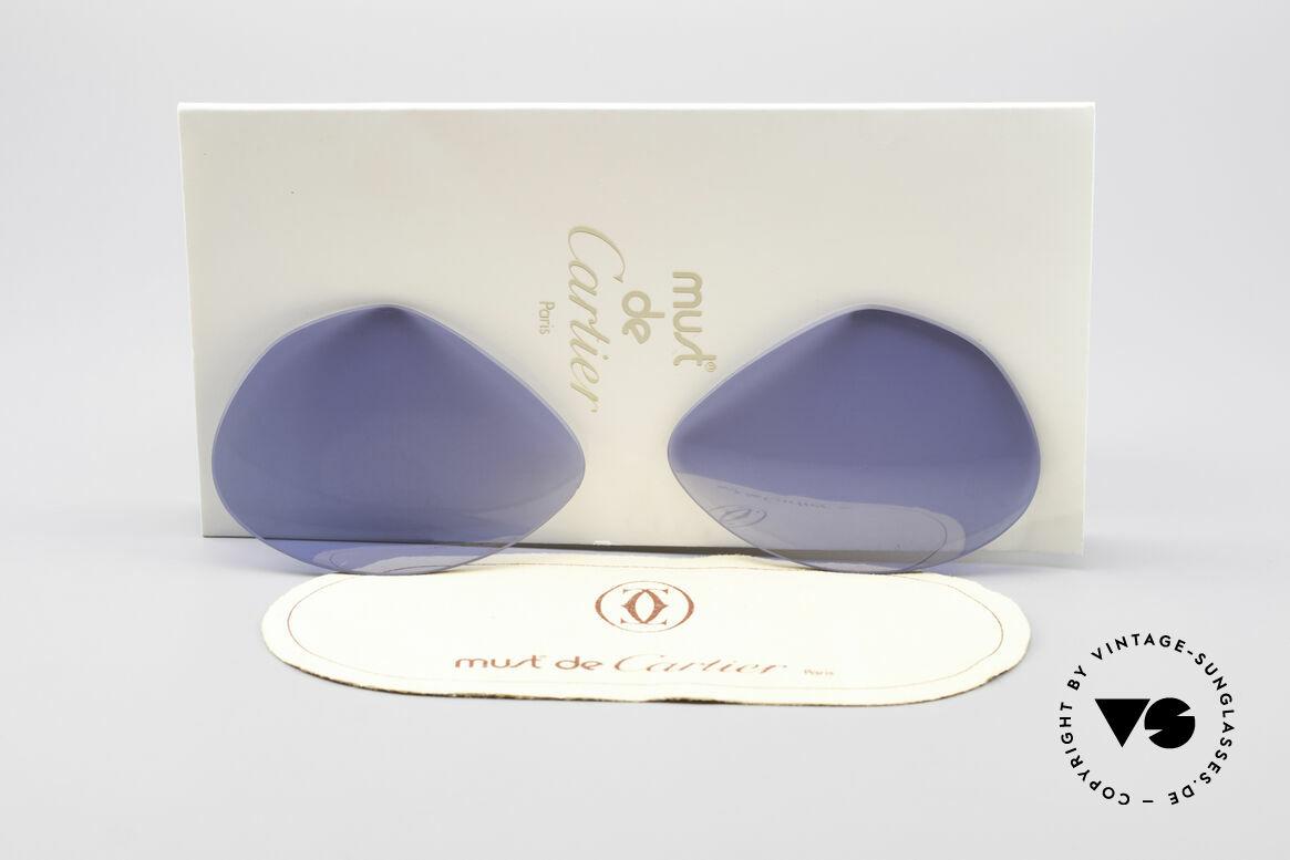 Cartier Vendome Lenses - L Navy Blue Sun Lenses, replacement lenses for Cartier mod. Vendome 62mm size, Made for Men