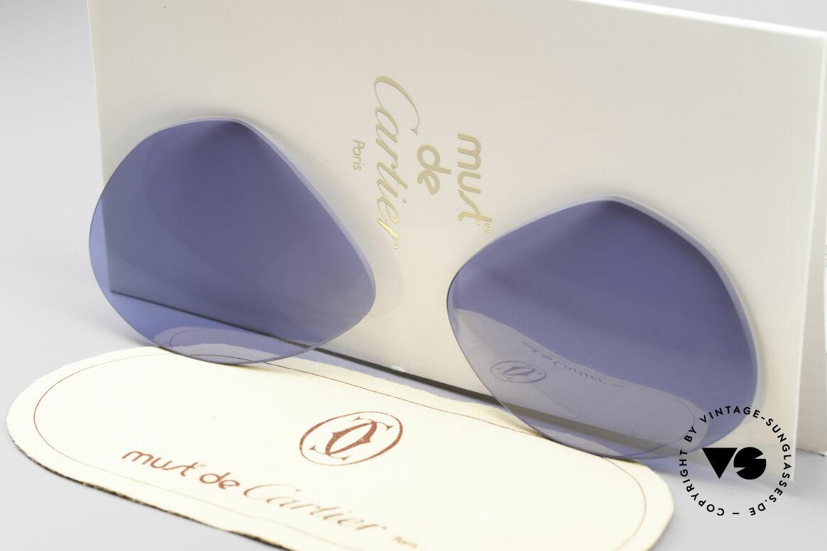 Cartier Vendome Lenses - L Navy Blue Sun Lenses, new CR39 UV400 plastic lenses (for 100% UV protection), Made for Men