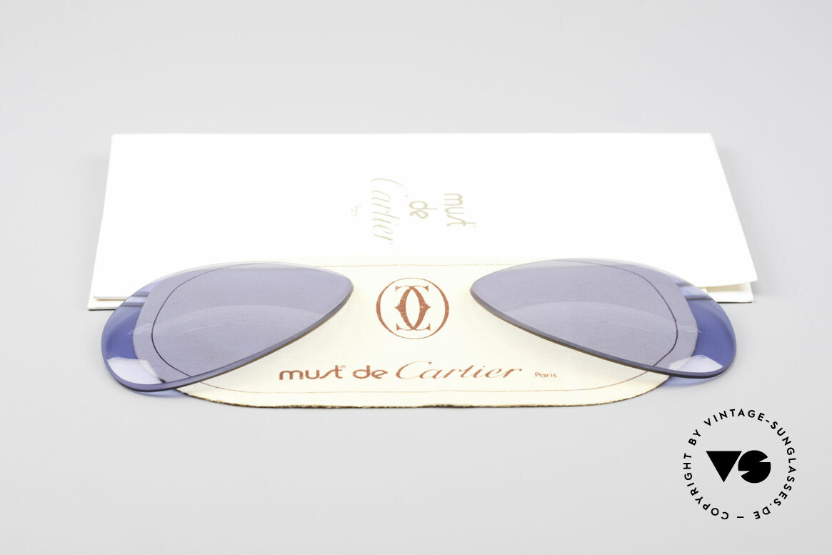Cartier Vendome Lenses - L Navy Blue Sun Lenses, made by our optician (thus, brand-new and scratch-free), Made for Men