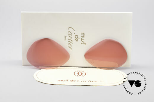 Cartier Vendome Lenses - M Pink Sun Lenses Details