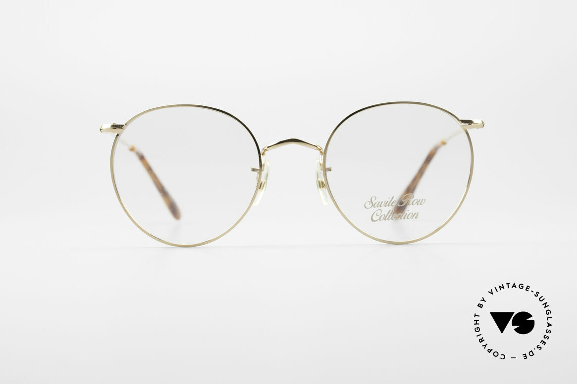 Savile Row Panto 49/20 John Lennon Vintage Glasses, classic round vintage panto-glasses from the 80's, Made for Men
